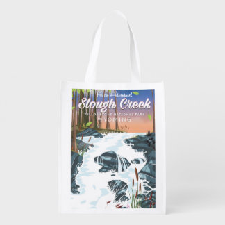 Slough Creek,Yellowstone national park Reusable Grocery Bag