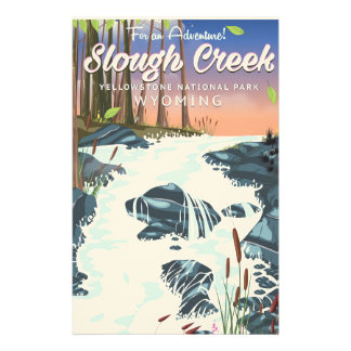 Slough Creek,Yellowstone national park Stationery