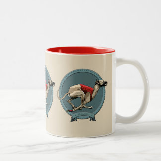 Sloughi Coursing Two-Tone Coffee Mug