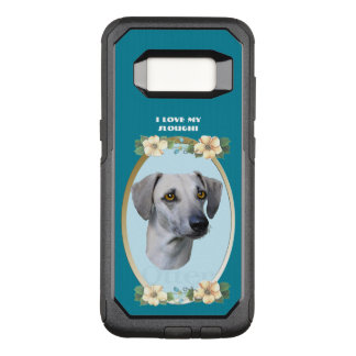Sloughi on Teal Floral OtterBox Commuter Samsung Galaxy S8 Case