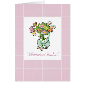Slovak Bouquet of Easter Blessings Card