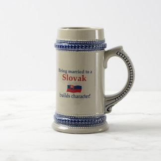 Slovak Builds Character 18 Oz Beer Stein