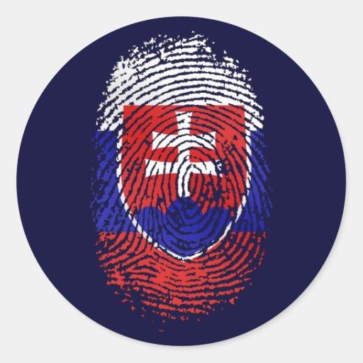 Slovak by DNA - Slovakia flag fingerprint gifts Stickers