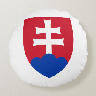 Slovak Coat of arms Round Pillow