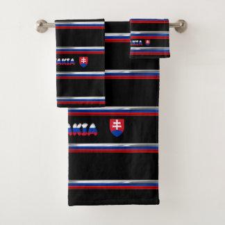 Slovak flag bath towel set