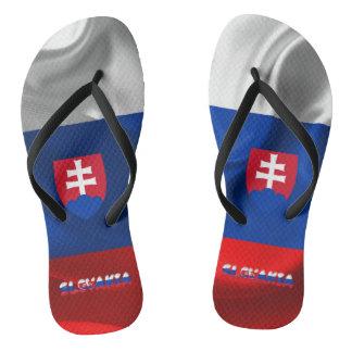 Slovak flag flip flops