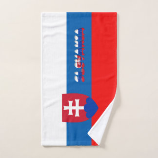 Slovak flag hand towel