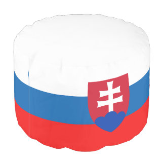 Slovak flag pouf