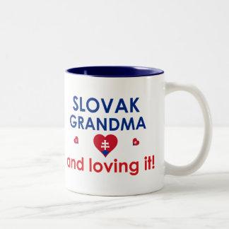 Slovak Grandma & Loving It Two-Tone Coffee Mug