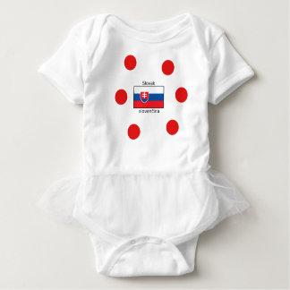 Slovak Language And Slovakia Flag Design Baby Bodysuit