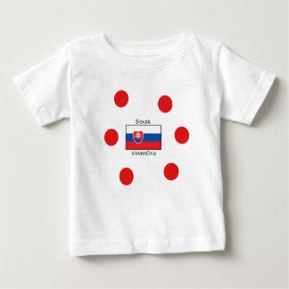 Slovak Language And Slovakia Flag Design Baby T-Shirt