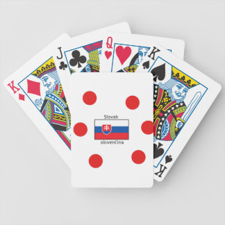 Slovak Language And Slovakia Flag Design Bicycle Playing Cards