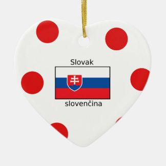 Slovak Language And Slovakia Flag Design Ceramic Ornament
