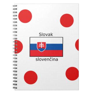 Slovak Language And Slovakia Flag Design Notebook