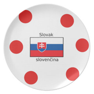 Slovak Language And Slovakia Flag Design Plate