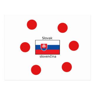 Slovak Language And Slovakia Flag Design Postcard