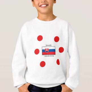 Slovak Language And Slovakia Flag Design Sweatshirt