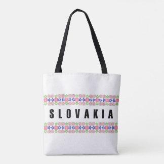 slovakia country symbol name text folk motif tradi tote bag