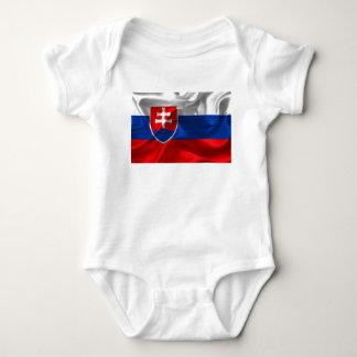 Slovakia flag baby bodysuit