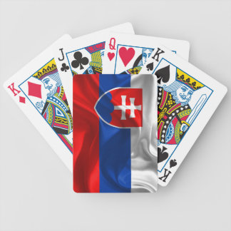 Slovakia flag bicycle playing cards