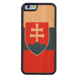 Slovakia Flag Carved Cherry iPhone 6 Bumper Case