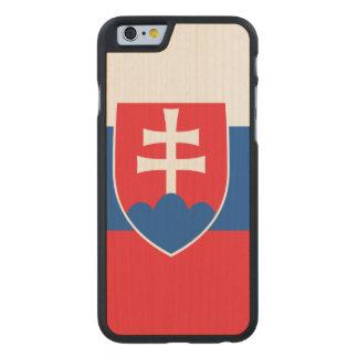 Slovakia Flag Carved® Maple iPhone 6 Slim Case