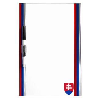 Slovakia flag dry erase board