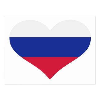 Slovakia flag heart postcard
