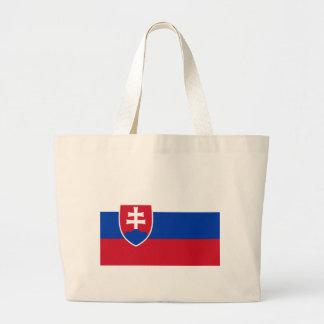 Slovakia Flag Large Tote Bag