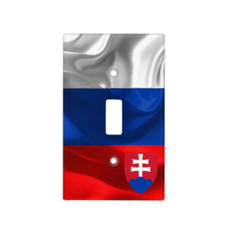 Slovakia flag light switch cover