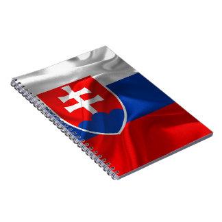 Slovakia flag notebook