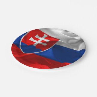 Slovakia flag paper plate