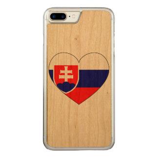 Slovakia Flag Simple Carved iPhone 7 Plus Case