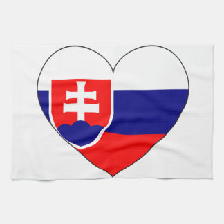 Slovakia Flag Simple Kitchen Towel