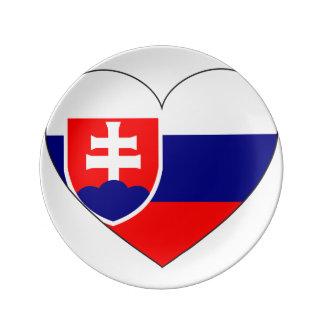 Slovakia Flag Simple Plate