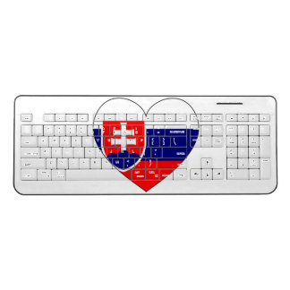 Slovakia Flag Simple Wireless Keyboard