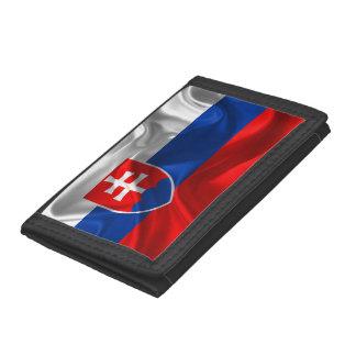 Slovakia flag trifold wallet