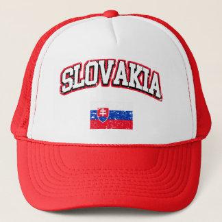Slovakia Flag Trucker Hat