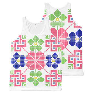 slovakia folk motif symbol traditional ethnic geom All-Over-Print tank top