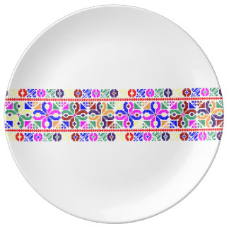 slovakia folk pattern motif traditional ethnic sym plate
