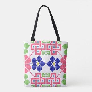 slovakia folk pattern motif traditional ethnic sym tote bag
