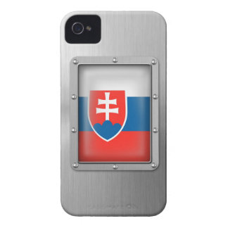 Slovakia in Stainless Steel iPhone 4 Case-Mate Case