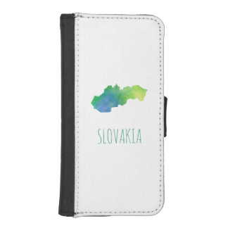 Slovakia Map iPhone 5 Wallet Cases