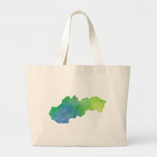 Slovakia Map Large Tote Bag