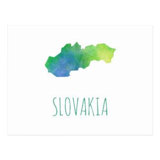 Slovakia Map Postcard