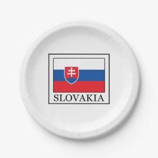 Slovakia Paper Plate