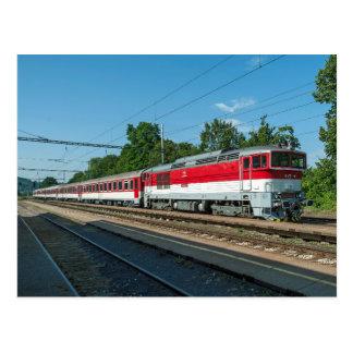 Slovakia: Passenger train passing Sliac Kupele Postcard