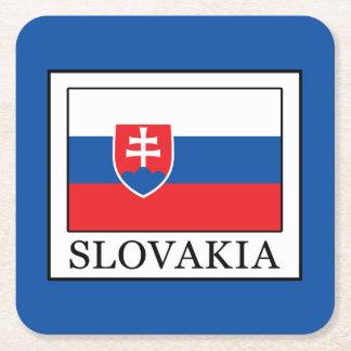 Slovakia Square Paper Coaster