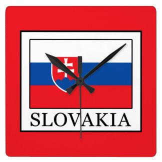 Slovakia Square Wall Clock