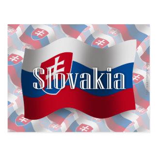 Slovakia Waving Flag Postcard
